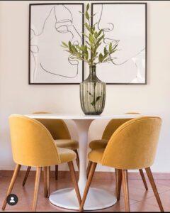 Cómo decorar tu comedor con color mostaza