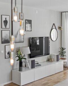 Decoracion moderna para área de la televisión