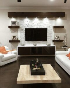 Iluminación para el área de la TV