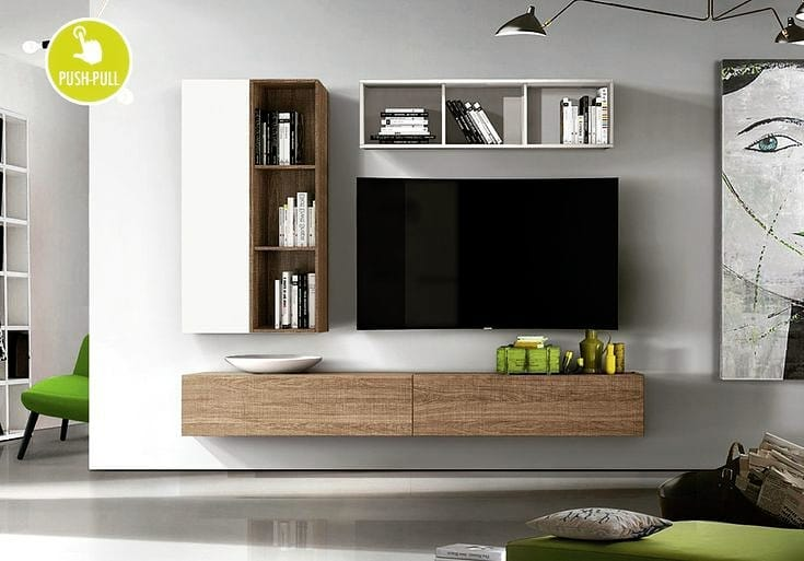 Organiza el área de la televisión con libreros