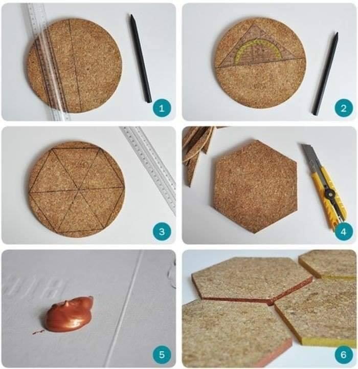 Cómo hacer hexágonos para decorar una cabecera