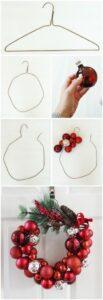 Cómo hacer una corona de esferas para navidad