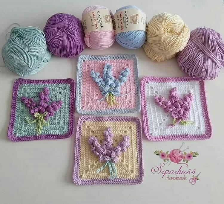 Cuadros decorativos con diseño de crochet