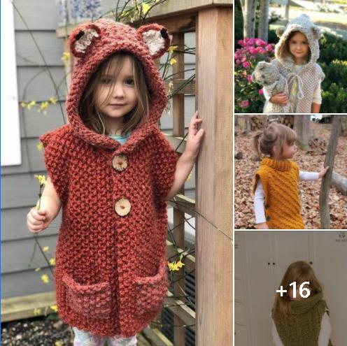 Hermosa ropa tejida para niñas