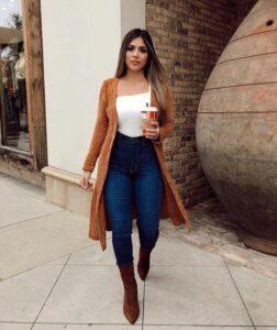 Cardigans café para la temporada de invierno