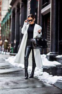 Looks blanco y negro para la temporada otoño - invierno