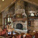 Modelos de casas de campo rústicas con chimenea