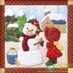 Diseños de cuadros navideños en Patchwork de Santa
