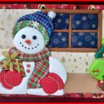 Cuadros navideños en patchwork sin aguja