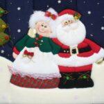 Ideas de cuadros navideños en patchwork de monos de nieve