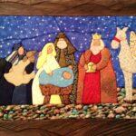 Cuadros navideños en patchwork de nacimientos