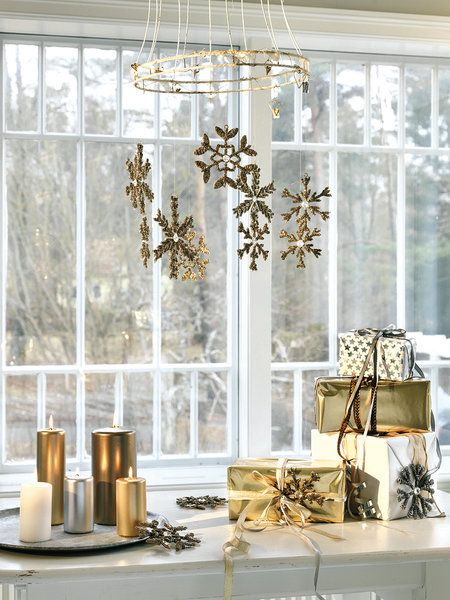 Decoración de navidad dorado y plateado