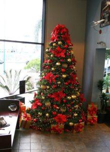 decoracion de navidad en color rojo