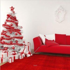 Adornos navideños en color rojo
