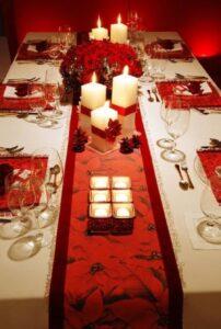 Centros de mesa navideños color rojo