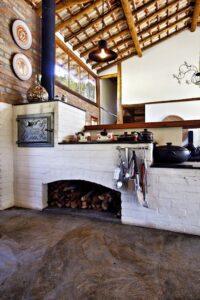 Diseños de Cocina a leña con ladrillo y piedra