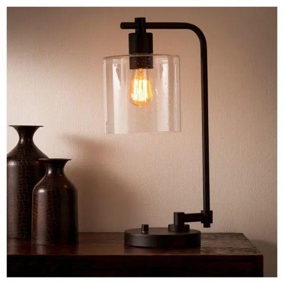 Diseños de lamparas industriales de mesa