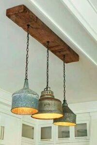 Diseños de lamparas estilo industrial para el comedor