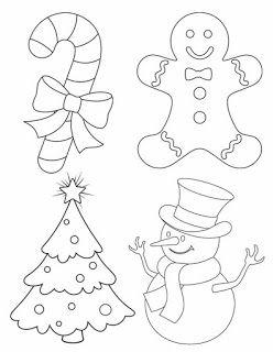 Moldes para hacer adornos de navidad en fieltro