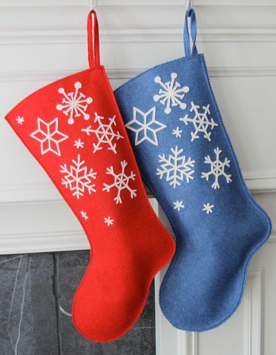 Botas navideñas de fieltro DIY