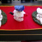 Caminos de mesa navideños de fieltro