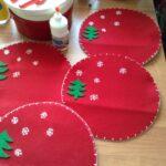 Individuales navideños de fieltro para mesas