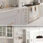 Jaladeras doradas modernas para gabinetes de cocina