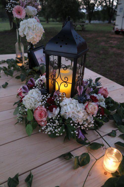Como decorar faroles con flores